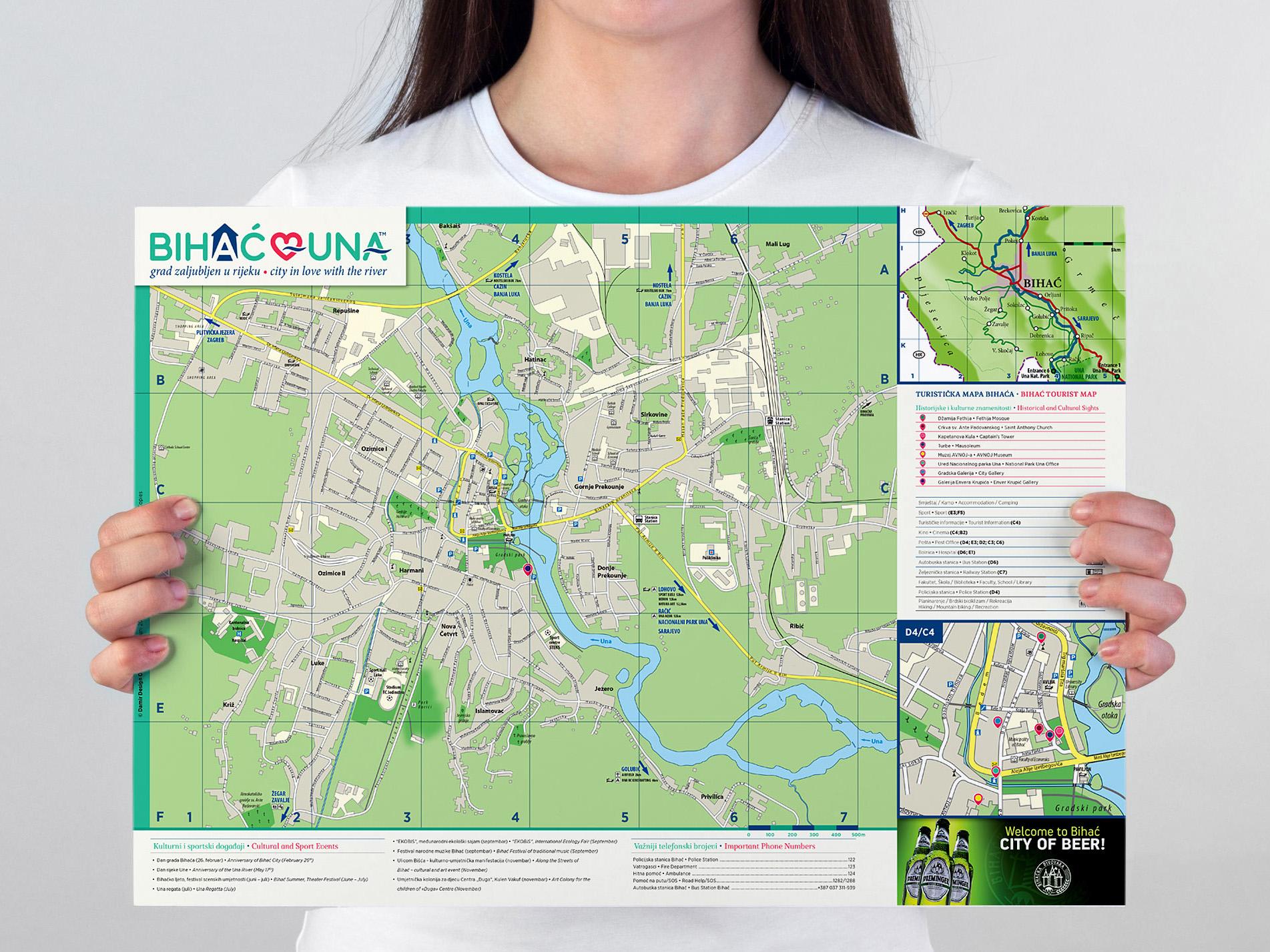 Bihać Tourist Map